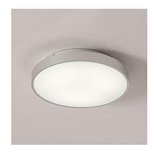 JYDQM Luz de Techo, Montaje en Superficie, Redondo for Sala de Estar, Dormitorio, luz de Techo, Blanco frío, Montaje Empotrado LED, Acabado Blanco,