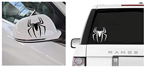 Marvel's Spiderman Stickers Spider Logo Vinyl Decal Sticker for MacBook, Air, iPad, Laptop, Car/Bike, Wall by A-B Traders. ABD-4511 (4.5, White)