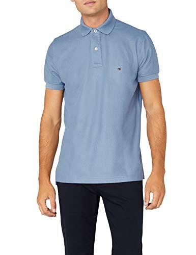 Tommy Hilfiger Herren Hilfiger Regular Polo Poloshirt, Blau (Infinity 409), Medium