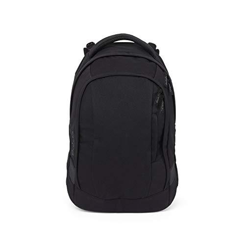 Satch sleek Schulrucksack - ergonomisch, 24 Liter, extra schlank - Blackjack - Black