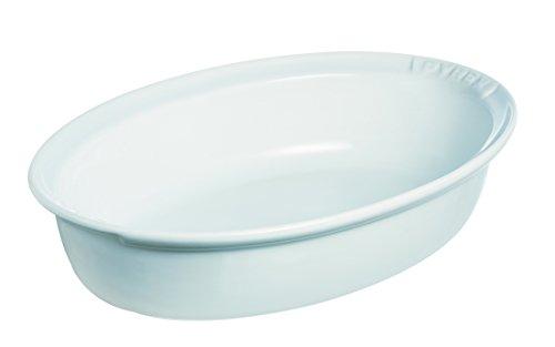 Pyrex Plat Ovale Impressions, Céramique, Blanc, 28 cm
