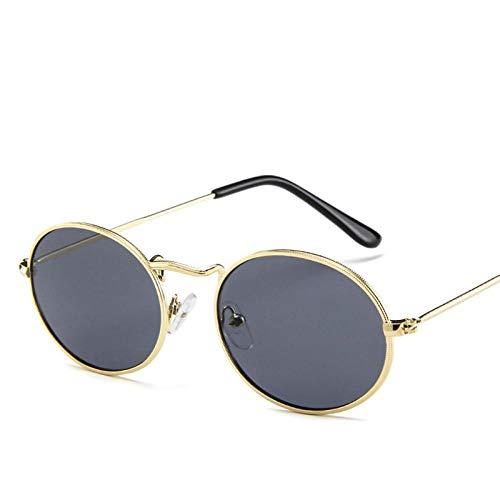 Gafas De Sol Polarizadas Nuevas Gafas De Sol Redondas Pequeñas para Mujer, Diseñador De Marca, Metal Retro, para Mujer, Vinatge, Ovalado, para Hombre, Gafas De Sol Uv400