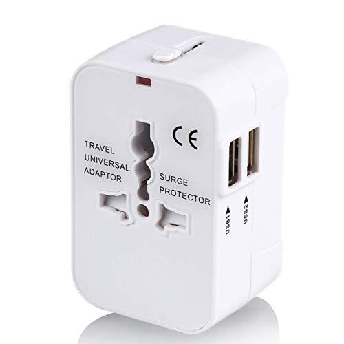 海外変換プラグ 2USBポート旅行充電器 A/O/BF/Cタイプ電源変換プラグ コンパクトな コンセント 壁の充電器 ...