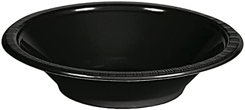 Creative Converting 28134051 Touch of Color Plastic Bowls Party Supplies, 12oz, Black