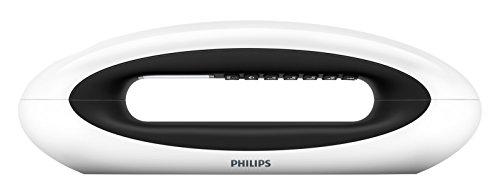 Philips M5602WG/23 - Teléfono inalámbrico duo con registro de llamadas (pantalla de 1.8', manos libres, ECO plus), blanco y negro