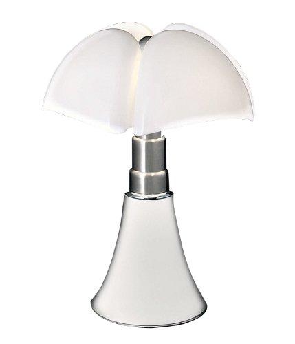 Nelli Marti Luce Lámpara de mesa Pipi strello–Blanco, Acero inoxidable (Color Blanco) GAE aulenti 1965, metal, acero inoxidable, difusor: methacrylate