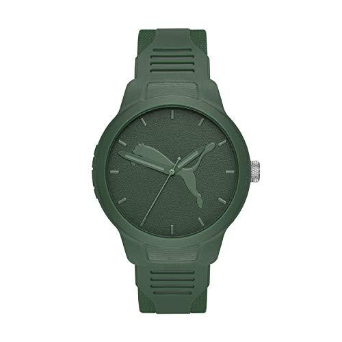PUMA Men Reset V2 Polyurethane Watch, Color: Green (Model: P5015)