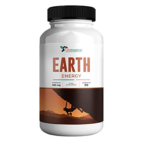 Lifetropics Earth Energy | Plant and Mineral Based Natural Energy Supplement | with Iron, Magnesium, Rhodiola Rosea, Ashwagandha, Beetroot Extract and L-Tyrosine | 90 Vegecaps