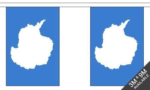 FlagmaniaNationalflagge Antarktis 9 Meter, 30 Flaggen + 59 mm Button.