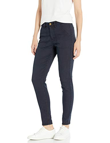 Amazon Brand - Daily Ritual Women's Stretch Twill High-Rise Utility Pant, Navy 8