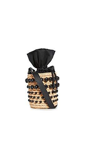 Sensi Studio Women's Mini Bucket Bag, Beige/Black, One Size
