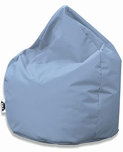 Patchhome Sitzsack Tropfenform mit Reißverschluss Nachfüllbar - für In & Outdoor - mit Styropor Füllung 3 Größen erhältlich XXL - Höhe 115cm, Durchmesser 95cm Hellblau