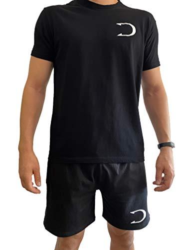 DALMAU - Camiseta Manga Corta Oficial 2020, 100% Algodón (Negra, S)