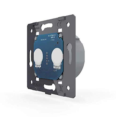 Interruptor de persiana Livolo de 2 vías, solo módulo sin marco de cristal, compatible solo con marco Livolo VL-C702W