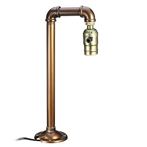 Waterleiding, industriële tafellamp, lamp, vintage, bureau, tafellantaarn, lamp, binnenverlichting, woonkamer, slaapkamer, decoratie