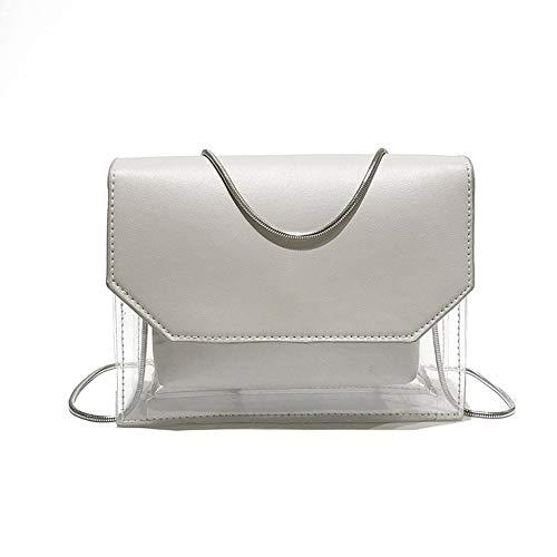 Betrothales Damen Umhängetaschen Handtaschen Transparente Größe Casual Chic Kapazität Personalisierte Strandtasche Grau Schwarz (Color : Colour, Size : One Size)