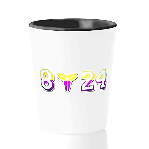 Athlete Shot Glass - 8 24 - Los Angeles Bry-Ant Kobes Basketball Great Player Cool Sports Coaching Fan Inspire N-Ba Mvp Legends Memories R-I-P