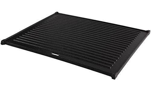 Mustang Gusseisen-Grillplatte 41,5 x 34,5 x 1 cm | Wendeplatte | Pizzaplatte | Grillaufsatz