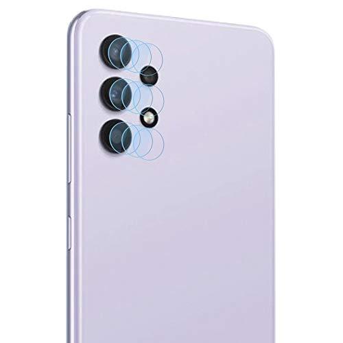 Zidwzidwei Protector de Lente de Cámara para Samsung Galaxy A32 4G [3-Pack], 9H Dureza, Anti-Rasguños HD sin Burbujas Vidrio Templado, Ultradelgado Samsung Galaxy A32 4G Protector Cámara Trasera