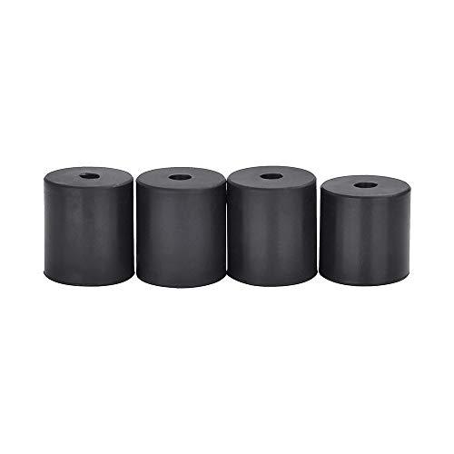 Lot de 4 supports chauffants en silicone pour imprimante 3D - Colonne de nivellement en silicone Résistant à la chaleur - Compatible avec Creality CR-10 Ender 3 Anet A8