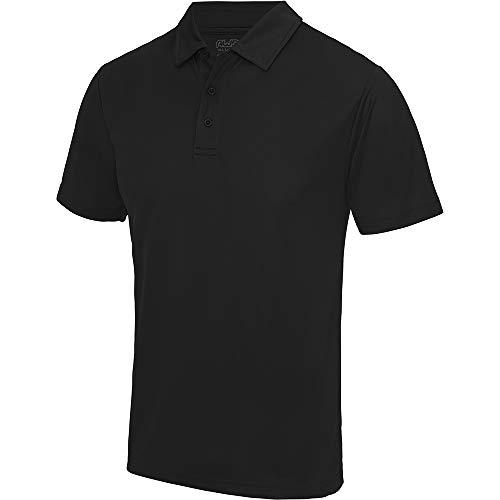 Polo sport uni Just Cool pour homme (L) (Noir)