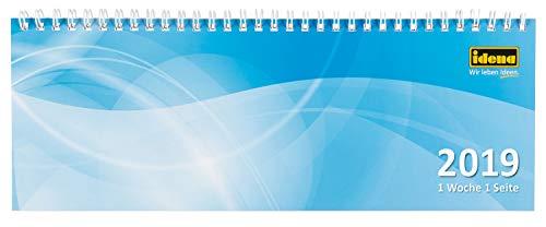 Idena 11201 - Tischkalender 2019, FSC-Mix, quer, 1 Woche / 1 Seite, 28,7 x 10 cm