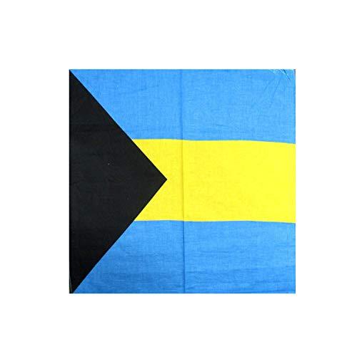 "PICK 1 "" FLAG "" DESIGN BANDANA 100% COTTON 22 X 22"" HEAD WRAP SCARF (Bahamas)"