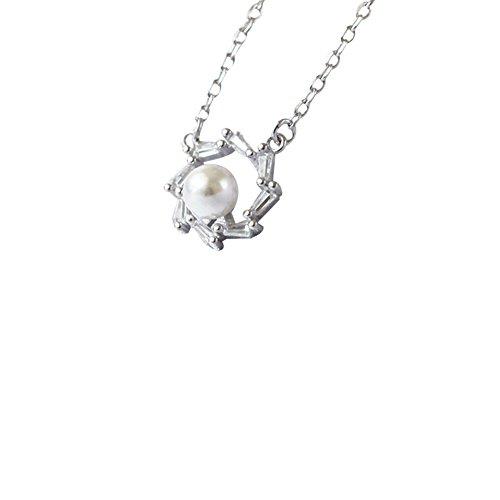fablcrew Halskette Anhänger Perle Blumen-Halsband Soleil Halskette Anhänger Liebespuppe