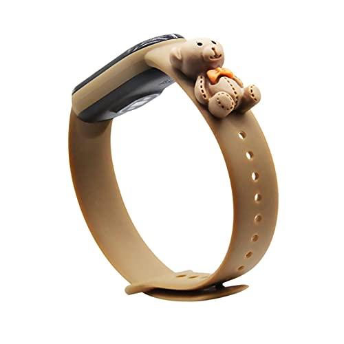 Correa de dibujos animados para mi banda 5 6 para una pulsera de muñequera M3 M4 de reloj inteligente, pulsera deportiva ajustable de banda de silicona suave (Color : A5, Size : For Miband 5)