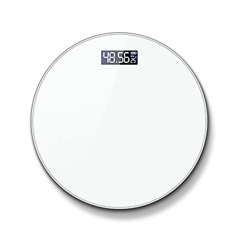 Básculas de baño Suelo Cuerpo Peso Escala redondo Redondo Vidrio DIRIGIÓ Escalas de pesaje electrónicos digitales Escala de baño escalas de pesaje Escala de peso corporal Escalas de pesas Escalas for