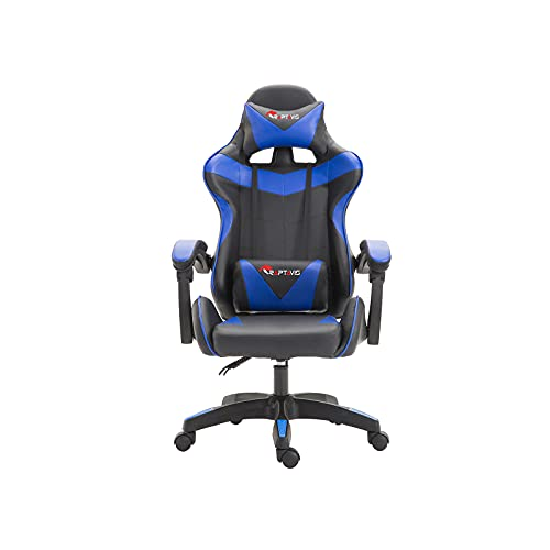 Computer Game, Streaming Blue Gaming Chair, Cheap Gaming Office Chair Ergonomic Backrest and Headrest, Swivel Recliner with Lumbar Support, Height Adjustment Racing Chair (Blue)