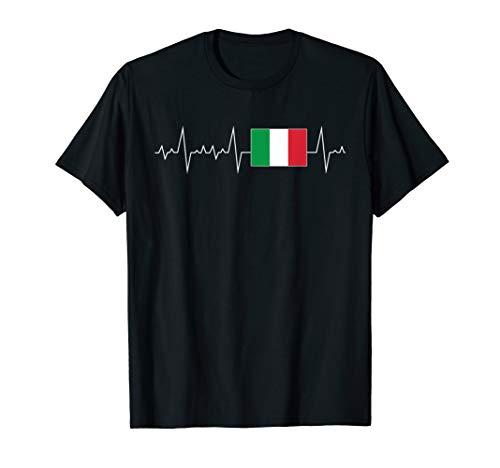 Herzschlag Herzlinie Herzfrequenz Italien T-Shirt I Italy T-Shirt