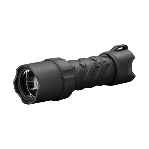 Coast Polysteel 400R 400 Lumen Rechargeable Waterproof LED Flashlight, Accessories Included