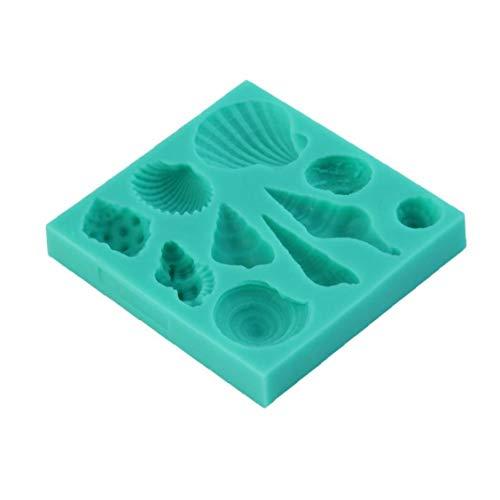 LjzlSxMF Coquillage Conch Forme De Gâteau en Silicone Moule Bricolage Fondant Moules Moules Décoration Savon Moules Cuisson Moisissure Verte