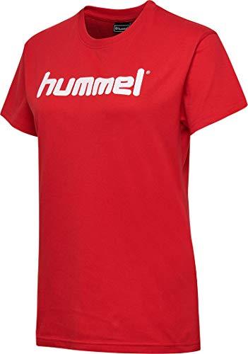 Hummel Damen HMLGO COTTON LOGO T-shirts, True Rot, M