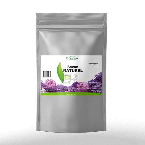 Floralpina Natuurlijke biologische zeep, gearomatiseerd, viooltjes, spaander, 1 kg