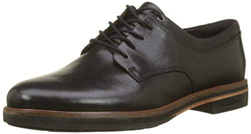 Clarks Damen Frida Derby Derbys, Schwarz (Black Leather), 40 EU