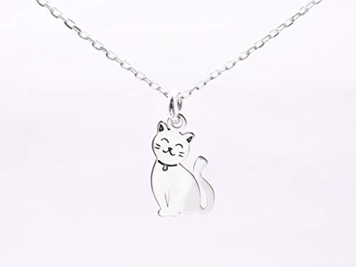 Edelschnitte Halskette Meow 925er Silber/Katze/Cat/Katzenliebe/Kitten/Katzenbaby