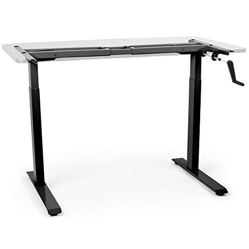 Duronic TM00BK Marco de escritorio con altura ajustable 71 cm - 116 cm manual, 2 niveles de altura -...