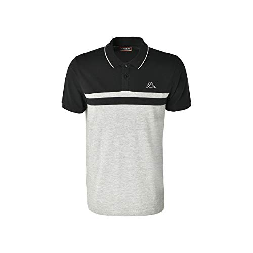 Kappa ESMILIO T-Shirts & Poloshirts Hommes Grau/Schwarz - XL - Polohemden