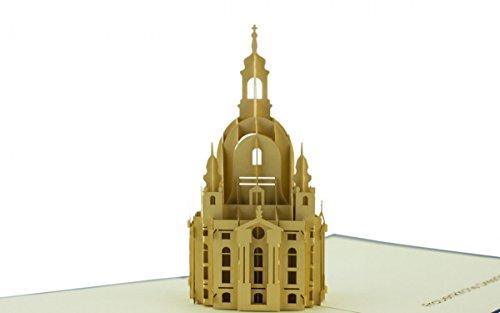 Dresden Frauenkirche 3-D Pop Up Grußkarte Geburtstag Städtereisen Handmade 20x15cm