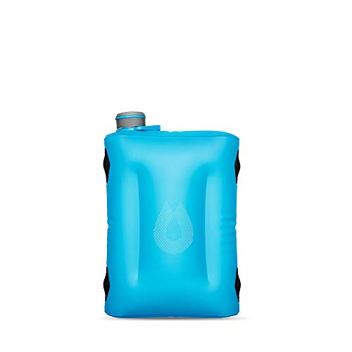 HydraPak Seeker - Collapsible Water Storage (4L/140oz) - BPA & PVC Free Camping Hydration Reservoir - Malibu Blue