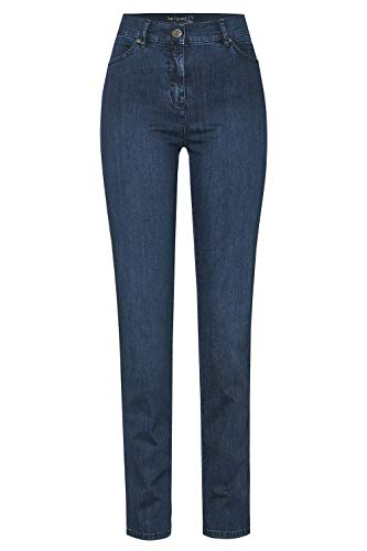 TONI Damen 5-Pocket-Jeans »be Loved« mit hoher Leibhöhe 44 darkblue
