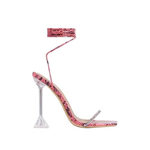 Mujer Puntiagudos Tacones Altos Zapatos de Tacón Bombas Moda con Tacon Alto Puntiagudos Sexy Zapatos de Vestir Correas de Zapatos Antideslizantes