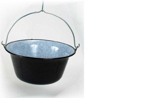 troph-e-shop Ungarischer Gulaschkessel Suppentopf Emaille Hordentopf Feuertopf 14 Liter für 12-15 Personen