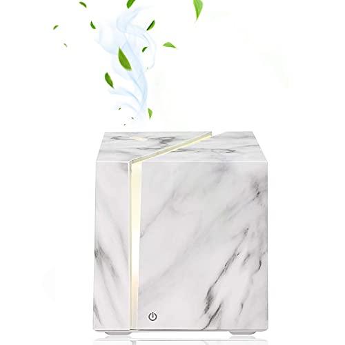 ALIFOR Diffusore di aromi,200ml Umidificatore ad Ultrasuoni Olio Essenziale Diffusore Lampada Aromaterapia Aroma Diffusore Mist Maker,Cubo di Grano di Marmo,per Spa, Yoga, Casa, Ufficio