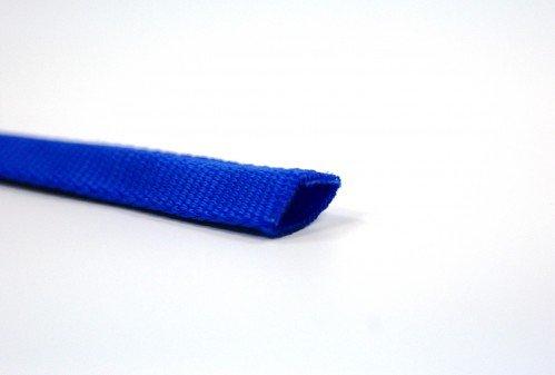 50m Schlauchgurt /Schlauchband aus Polyamid, 25mm breit, blau