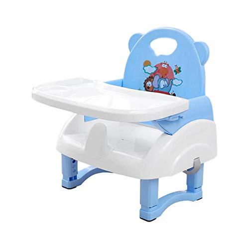 Groust Alzador de asiento, asiento elevador de bolsillo, asiento elevador flexible y asiento infantil de viaje, plegable y altura regulable, 3 alturas, para niños de 0 a 3 años de edad