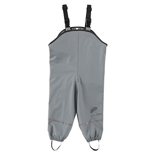 Sterntaler Unisex Baby Pantaloni Impermeabili Sfoderati Con Bretelle Regenhose, Grau, 80