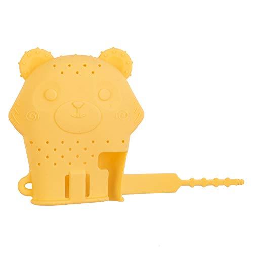 DNNAL Babyhandschuhe Beißring, Baby-Beißstäbchen-Kauspielzeug für Kinder Perfekt für die Entwicklung von Kinderkrankheiten, sensorischen und feinmotorischen Fähigkeiten,Gelb